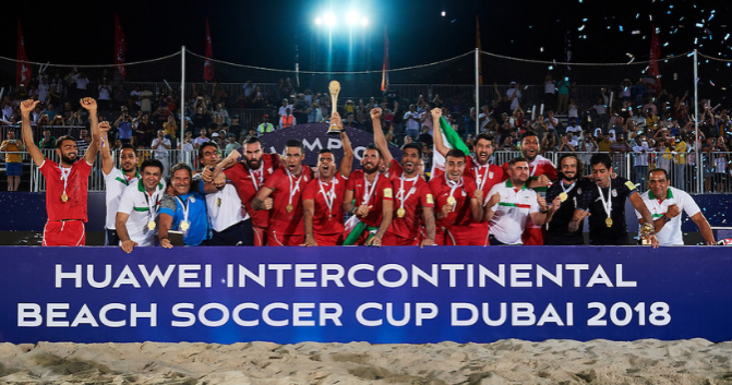Iran Beach Soccer champion